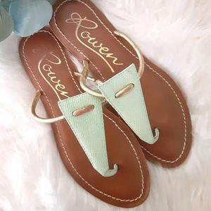Mint & Gold Rowen Sandals